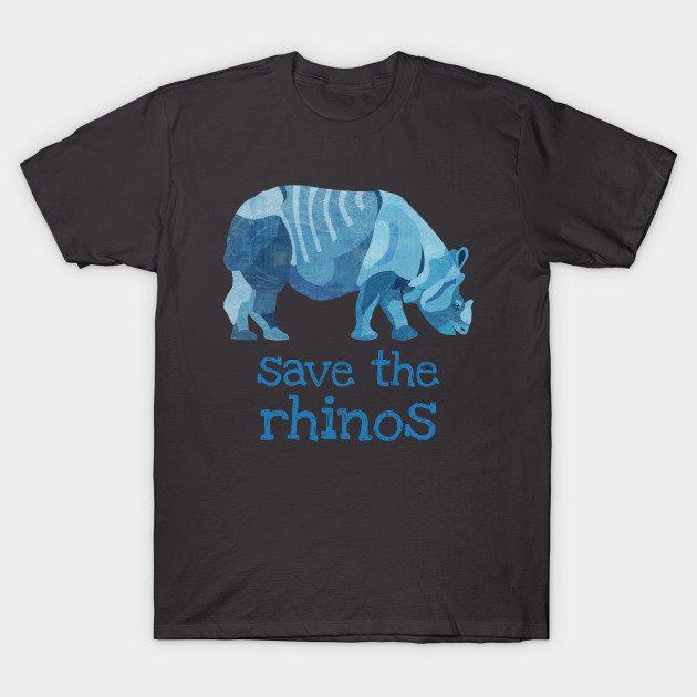 Save the Rhinos Rhinoceros T-Shirt