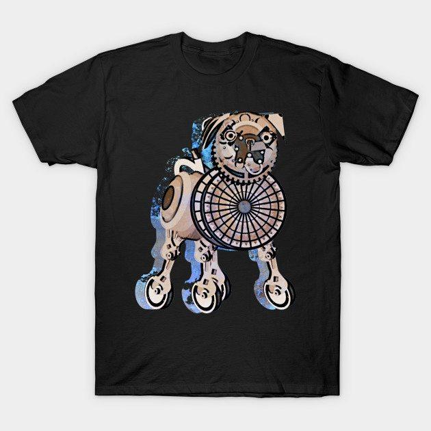 Steampunk Pug Dog T-Shirt