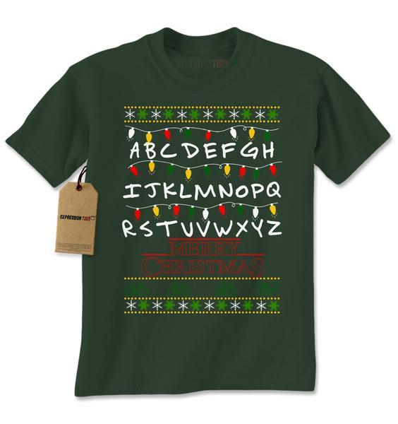 Strange Merry Christmas Ugly Holiday  Mens T-shirt