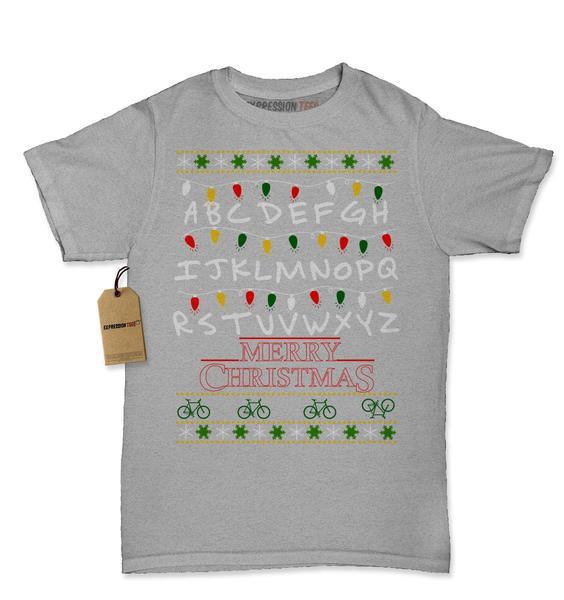 Strange Merry Christmas Ugly Holiday  Womens T-shirt