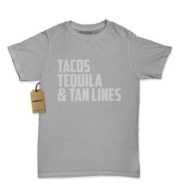 Tacos, Tequila & Tan Lines Womens T-shirt