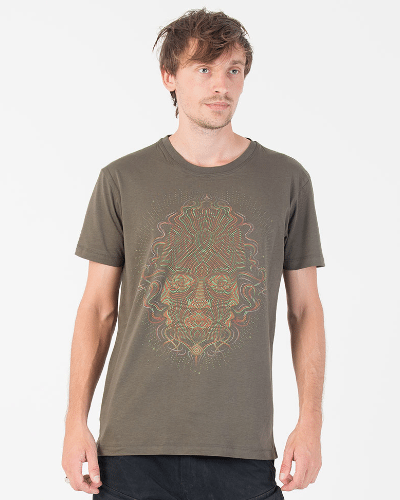 TriMurti T-shirt ➟ Purple / Brown / Olive