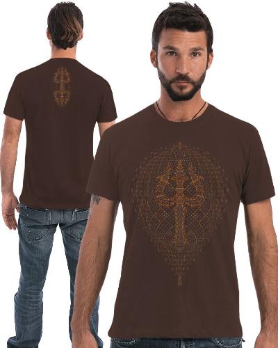Trishula T-shirt ➟ Purple / Brown / Olive
