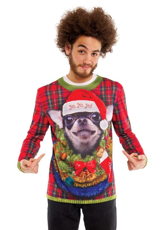 Ugly Christmas Sweater t-shirt Big Dog mens