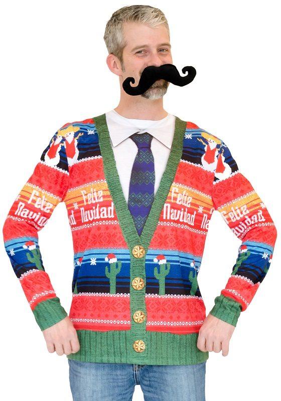 Ugly Christmas Sweater t-shirt Feliz Navidad mens