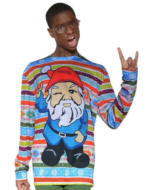Ugly Christmas Sweater t-shirt Xmas Gnome mens