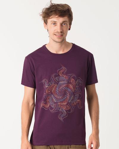Vortex T-shirt ➟ Purple / Brown / Olive