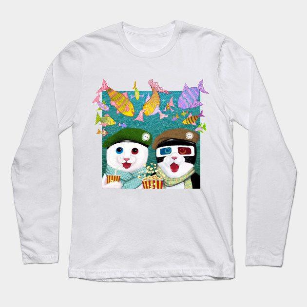 3D cat Long Sleeve T-Shirt