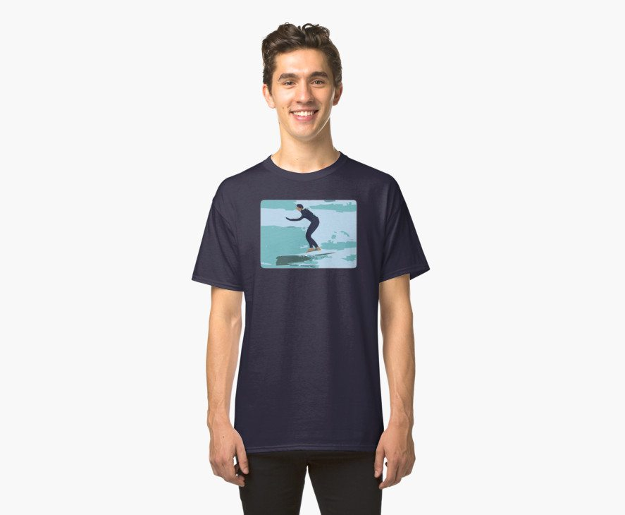 Abstract Surfing Surfer