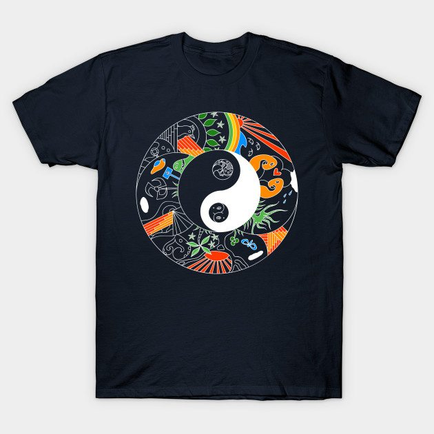 artistic yin and yang doodle T-Shirt
