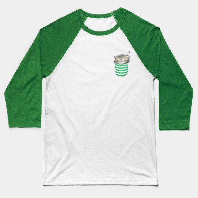 Cat in the pocket Baseball T-Shirt