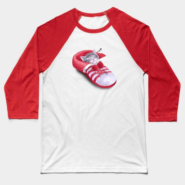Cat in the shoe Baseball T-Shirt