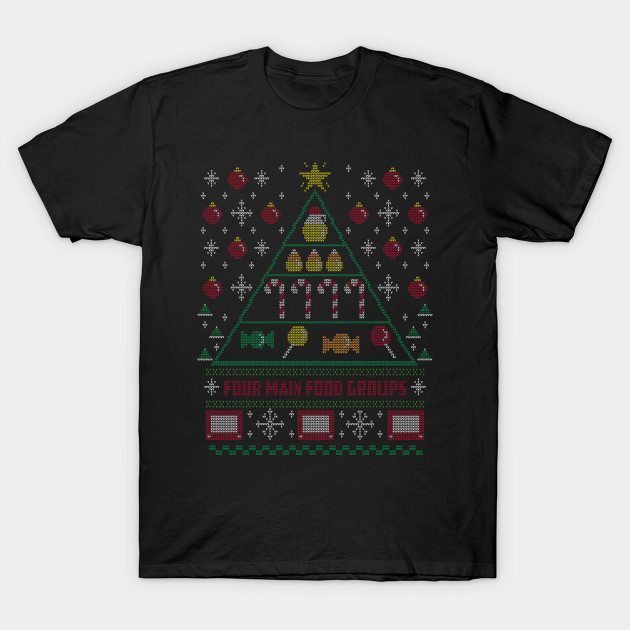 Elf Food Pyramid Holiday Sweater T-Shirt