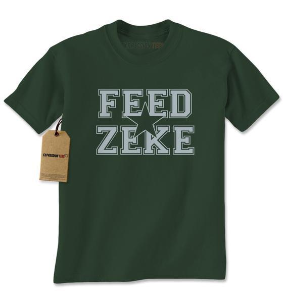 Feed Zeke Dallas Football Mens T-shirt
