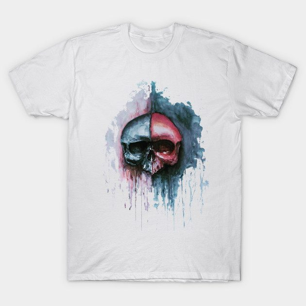 Watercolor Skully T-Shirt