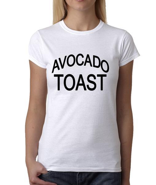 Womens Avocado Toast T-Shirt Medium White