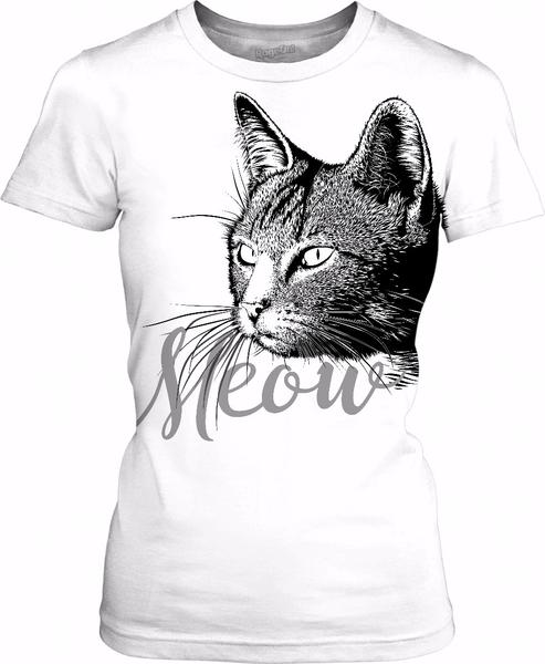 Beautiful CAT HEAD with the word MEOW