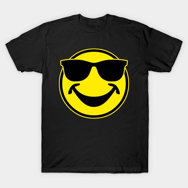 COOL yellow SMILEY BRO with sunglasses T-Shirt