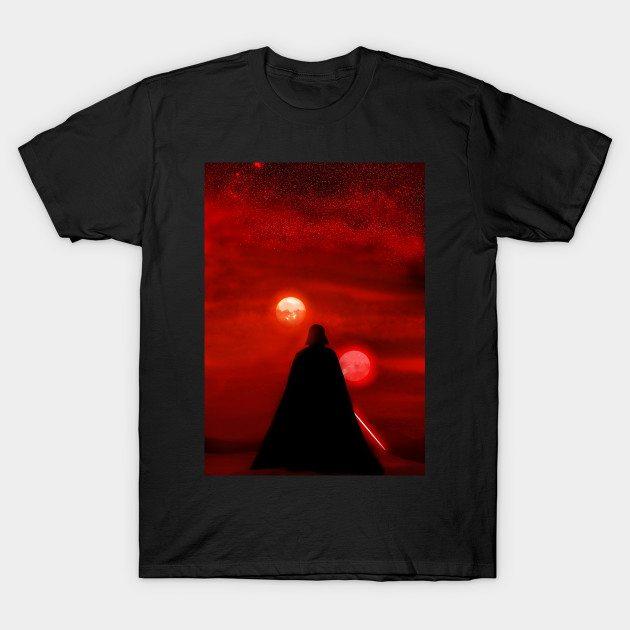 Darth Vader Tatooine Sunset T-Shirt