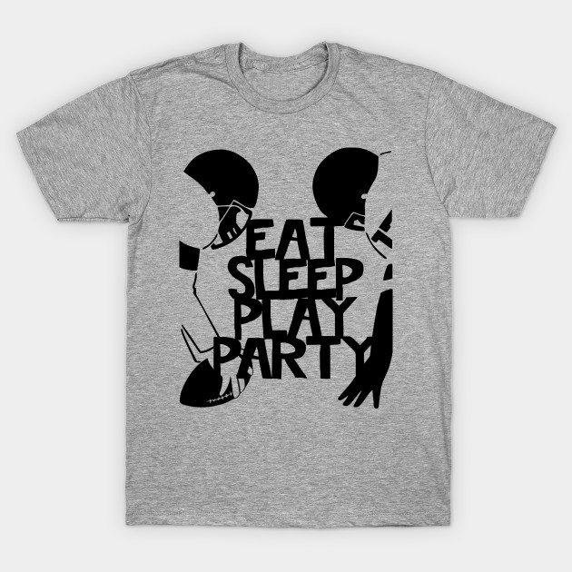 EAT SLEEP PLAY PARTY Football Players T-Shirt