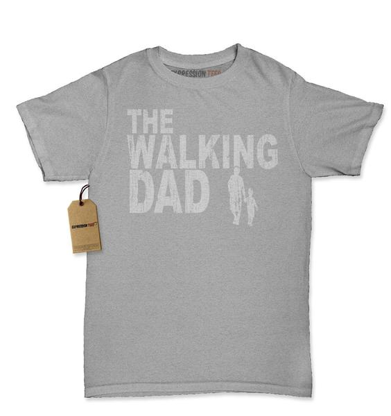 Expression Tees The Walking Dad Father's Day Womens T-shirt
