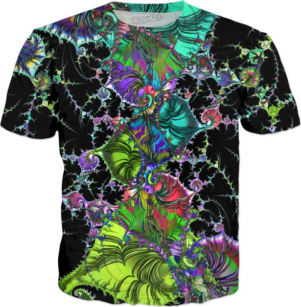 Filigree Spiral Chaos Fractal multicolored