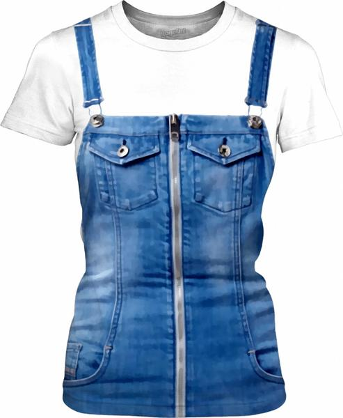 Funny Blue Jeans Dungarees