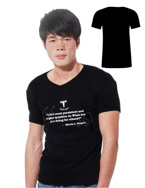 """""""Life's Most Persistent and Urgent Question is; What are you Doing for Others"""" V-Neck"""