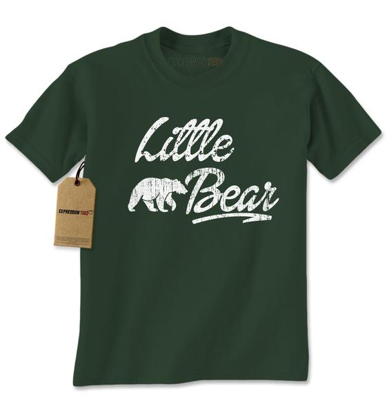 Little Bear Cub Family Mens T-shirt