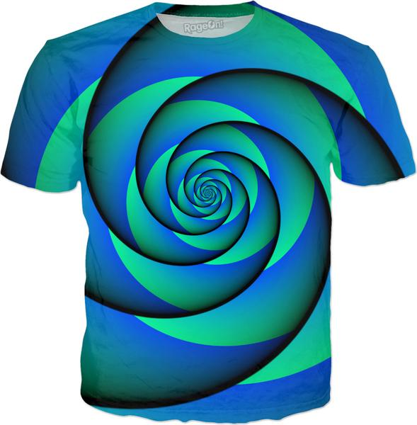 Power Spiral – WAVES – blue green
