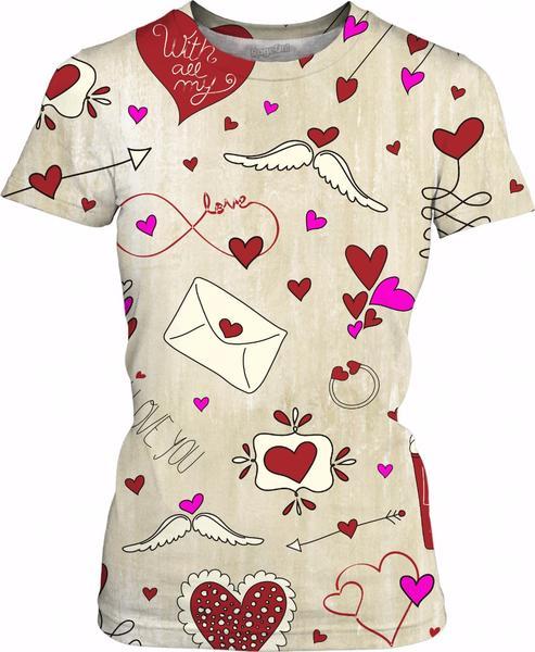 Pretty Valentin's Day Love Hearts Pattern