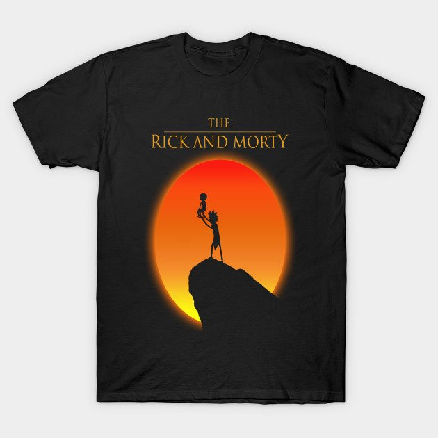 Rick and Morty (Lion king version) T-Shirt