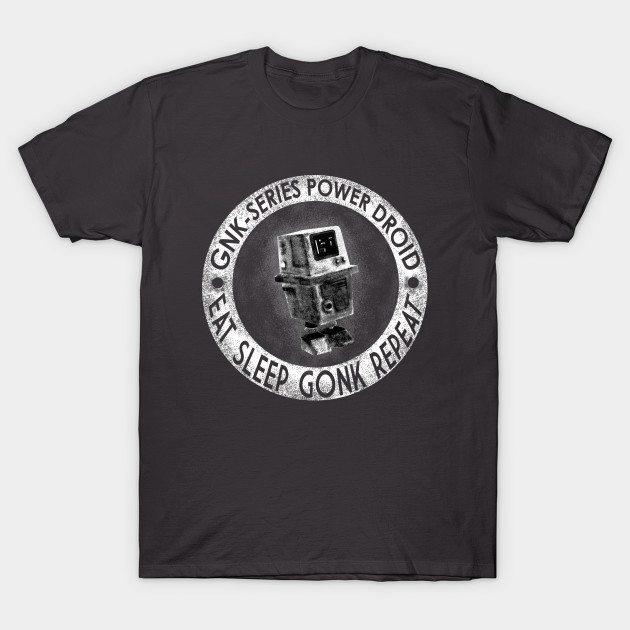 Star Wars Eat Sleep Gonk Repeat T-Shirt