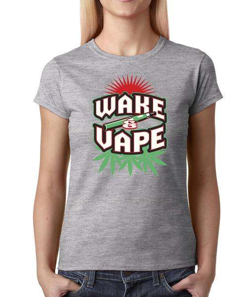 Wake And Vape Womens T-shirt