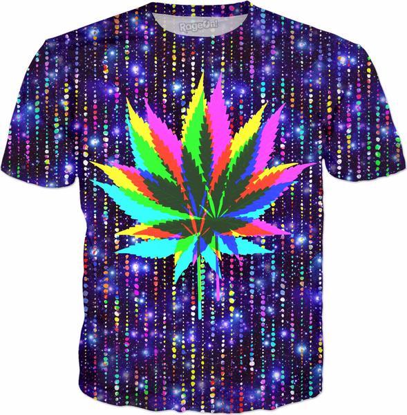 Wild Hemp Cannabis Leaves – neon colored