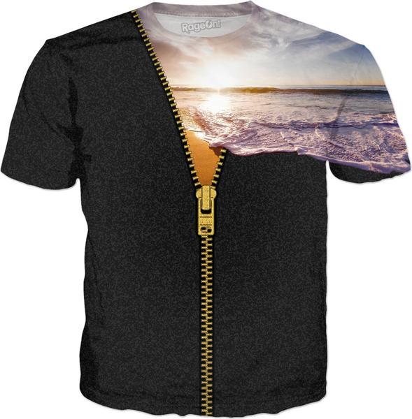 ZIPPER gold SUNSET BEACH