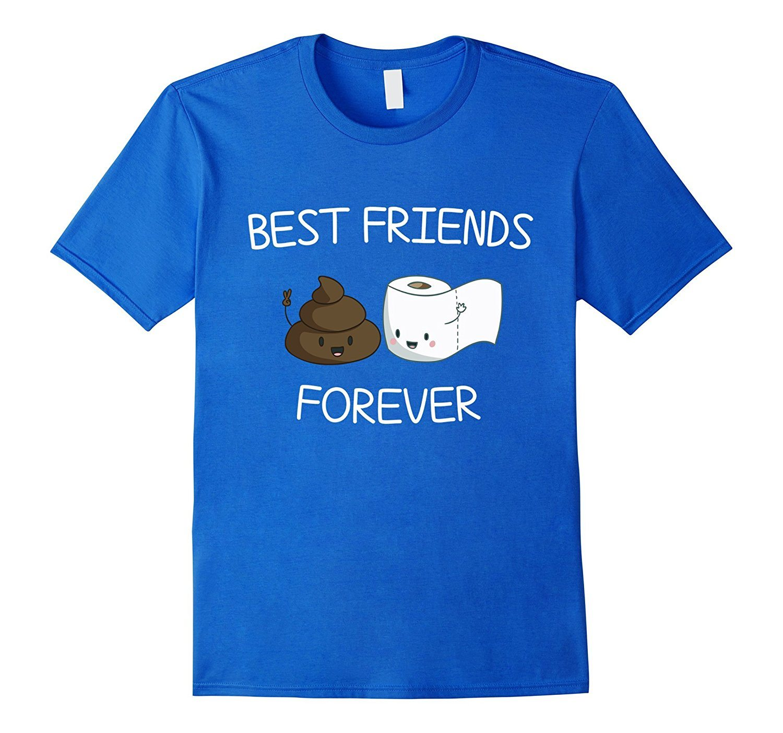 Best Friends Forever Poop Emoji T-shirt Cool Emoticon Tshirt