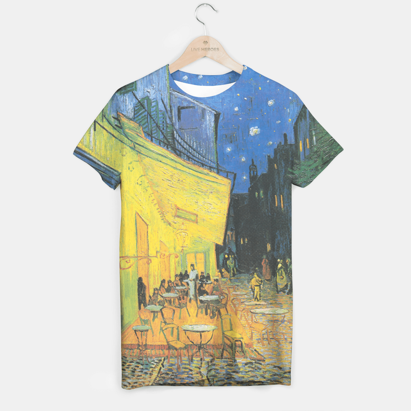 CAFE TERRACE AT NiGHT BY ViNCENT VAN GOGH T-shirt, Live Heroes