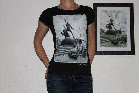 classic t-shirt wainao-gomez AI2-BLACK-women