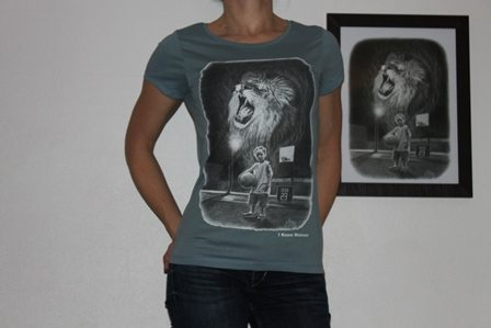 classic tee shirt wainao AI- gomez- BLUE-women