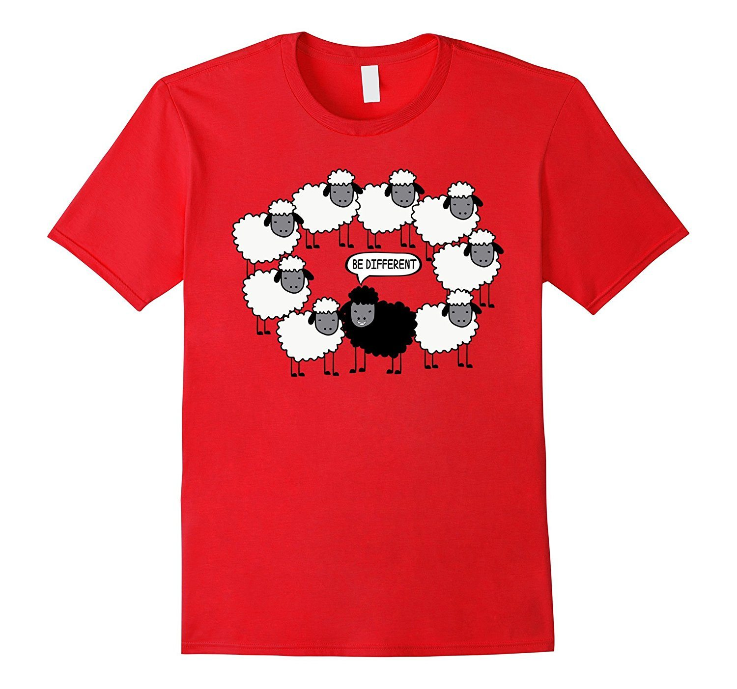 Cool Be Different Funny Tshirt Black Sheep Family