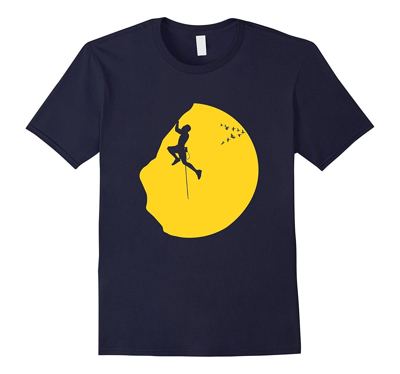 Cool Climbing T-Shirt Rock Climber Scrambling Mountain Tee