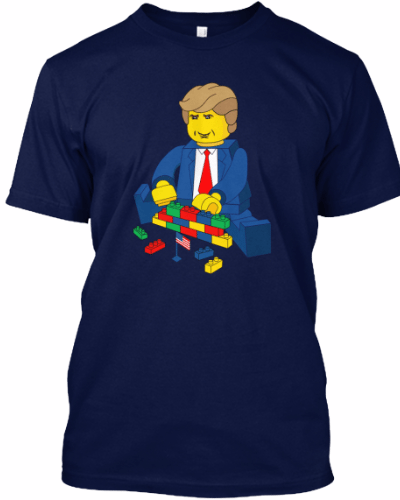 Cool Funny Build a Wall Trump Tshirt