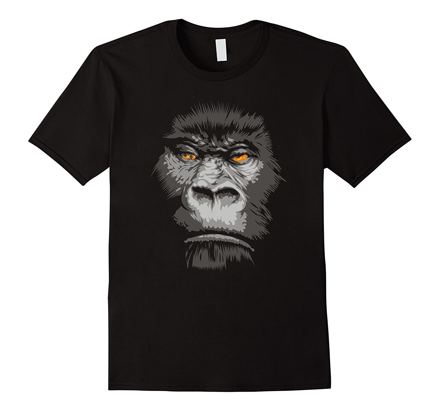 Cool Real Apes Face T-shirt Black Monkey Faces Tshirt