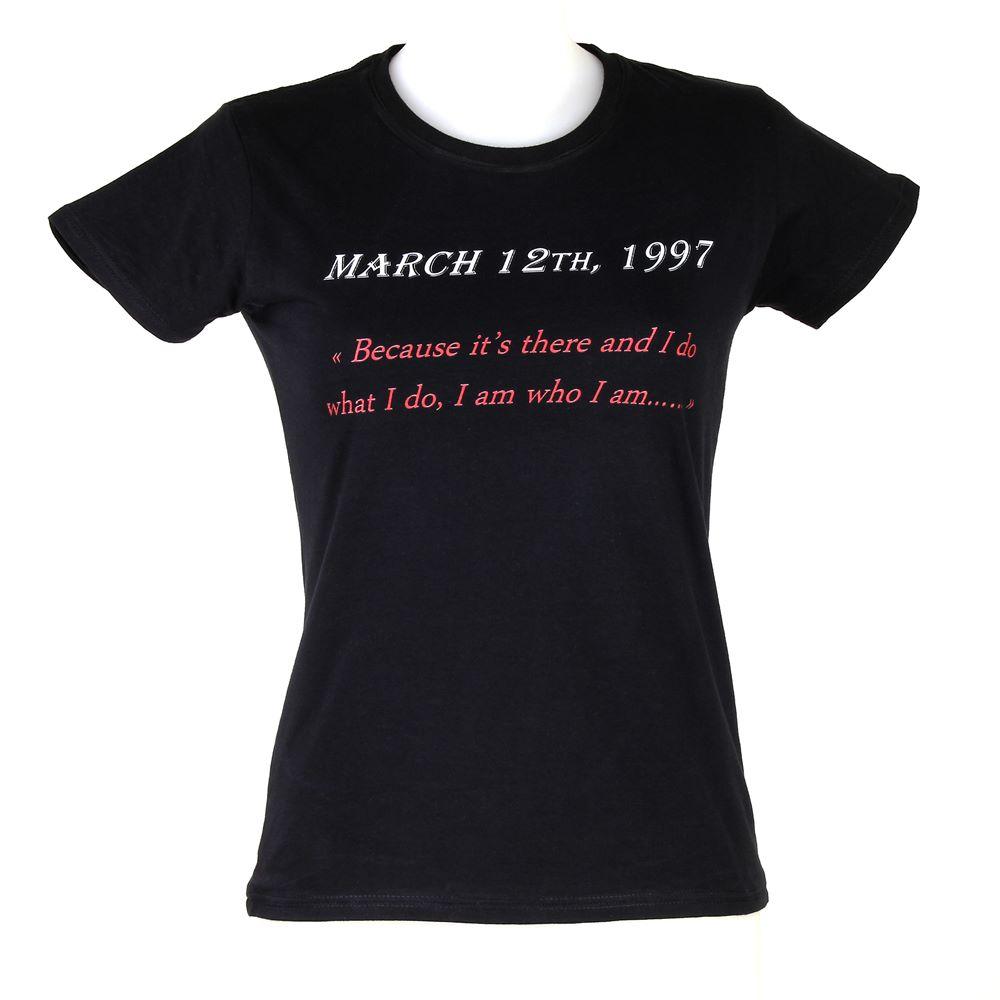 "double tee shirt black ""UNBREAKABLE"" femme"