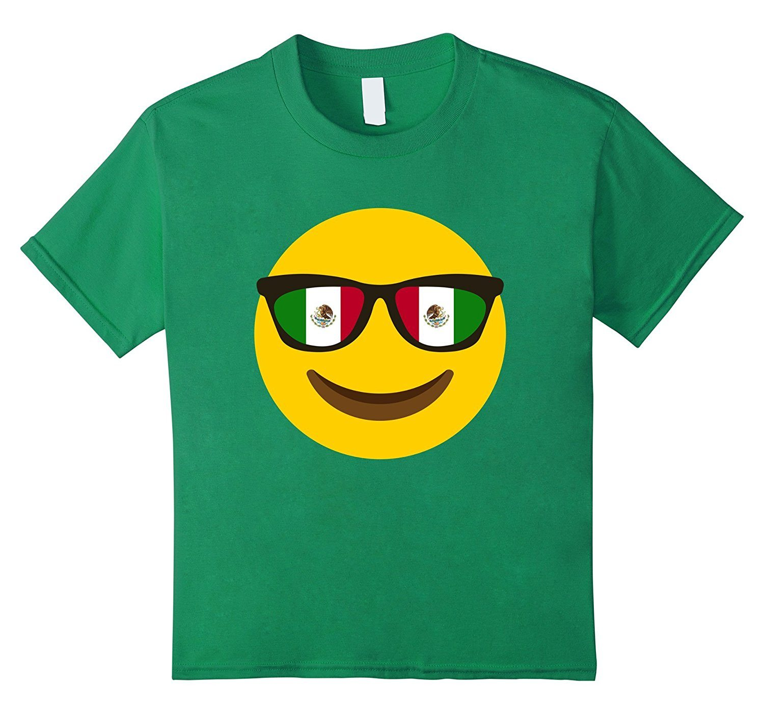 Flag of Mexico Glass Emoji Tshirt Mexican Glass Face T-shirt