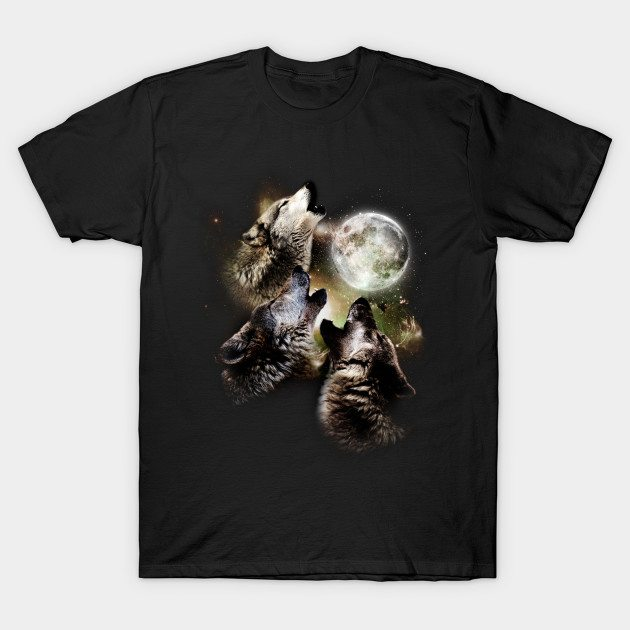 Great Graphic Design Three Wolf Moon T-Shirt
