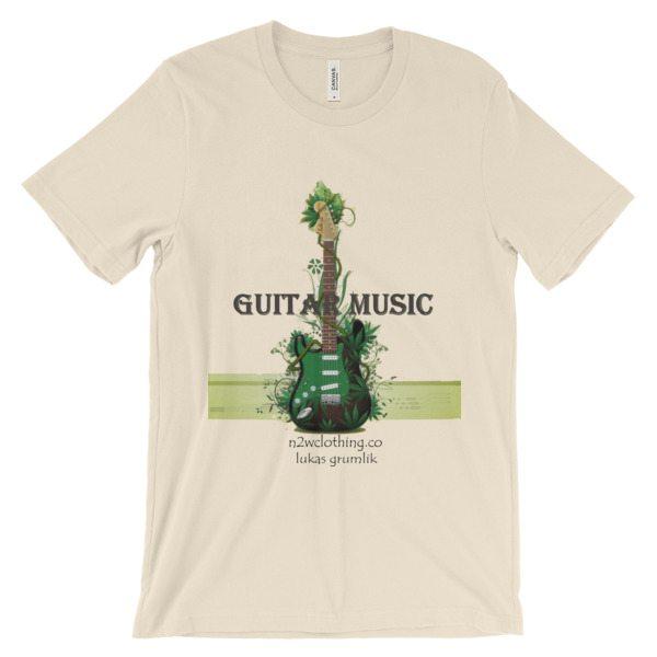 Green Guitar Music T-shirt | Unisex –