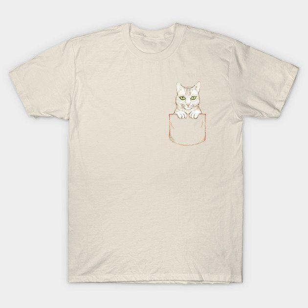 Happy Cat Pocket T-Shirt