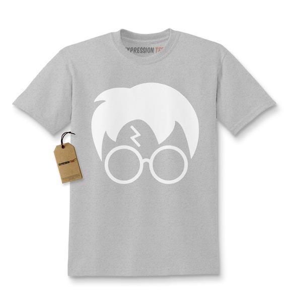 Harry Glasses Lightning Bolt Hair Kids T-shirt